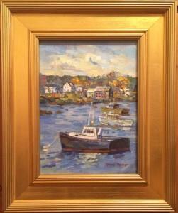 Artist Dennis Poirier-Lobster boat cape porpoise