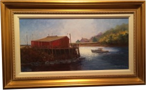 Artist Richard Yeager-Governments Wharf in the Afternoon