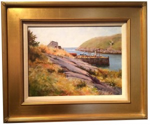 Artist Richard Yeager-Monhegan Dock