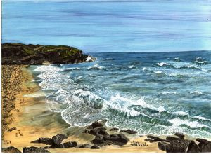 Artist-Helene Rush-Beach&Waves-Alcohol Inks