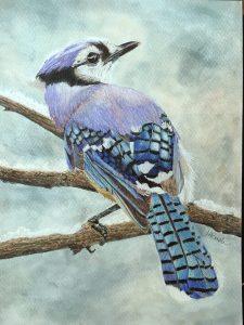 Artist Helene Rush Bluejay