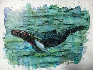 Artist-Helene Rush-Whale-Alcohol Inks