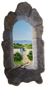 Artist Piper Castles Colony Beach View trompe l'oeil