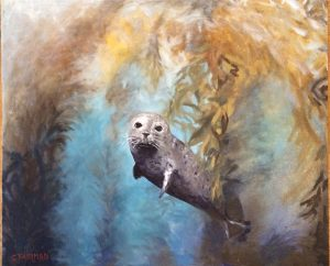 Artist Colette Fairman Little Friend Oil Painting