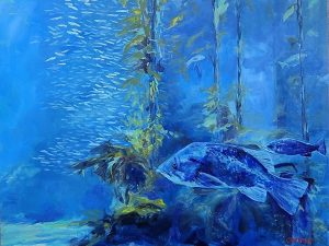 Artist Colette Fairman into-the-depths oil painting