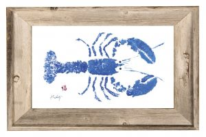 Artist John Doherty blue_lobster_print