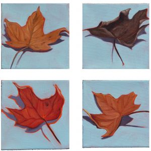 """Leaves"" 4 pieces"