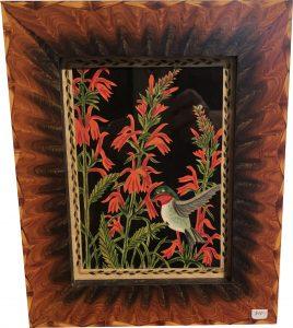 Artist Claudia Hopf Hummingbird Scherenschnitte