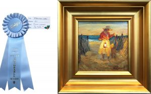 "Merit Award ""Afternoon Walk"" by Diane Leonard"