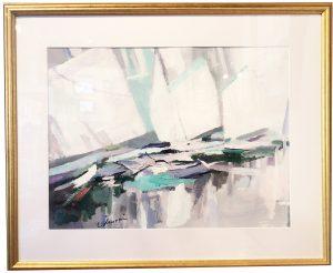 Artist Charles Gruppe Portofino Series Acrylic Painting