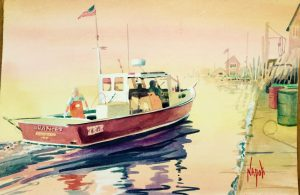 Artist Donna Napoli-Chances lobster boat