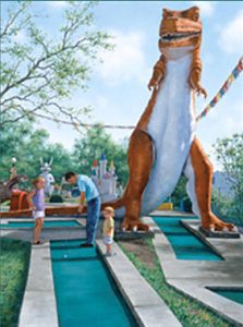 artist-gretchen-huber-mini_golf-dinosaur-oil-painting