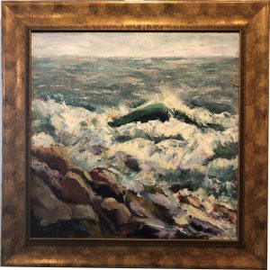 Artist Joan Sutter Off Old Prince Oil Painting