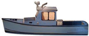 Artist Susan Wilder trompe l'oeill Lobster Boat