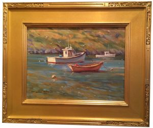 Artist William Maloney Monhegan Boats