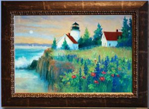 Artist Nancy St. Lawrence Pastel