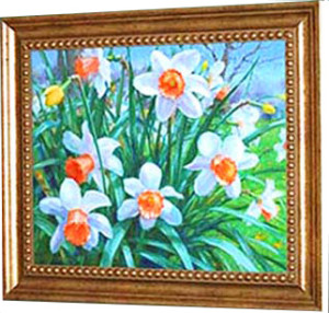 "alt +""Artist Gretchen Huber - Daffodils"""
