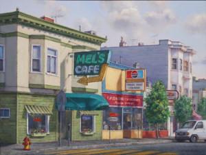 """alt = """"Artist Gretchen Huber - Mel's Cafe"""""""