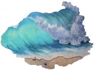Artist Piper Castles Crashing Wave Acrylic